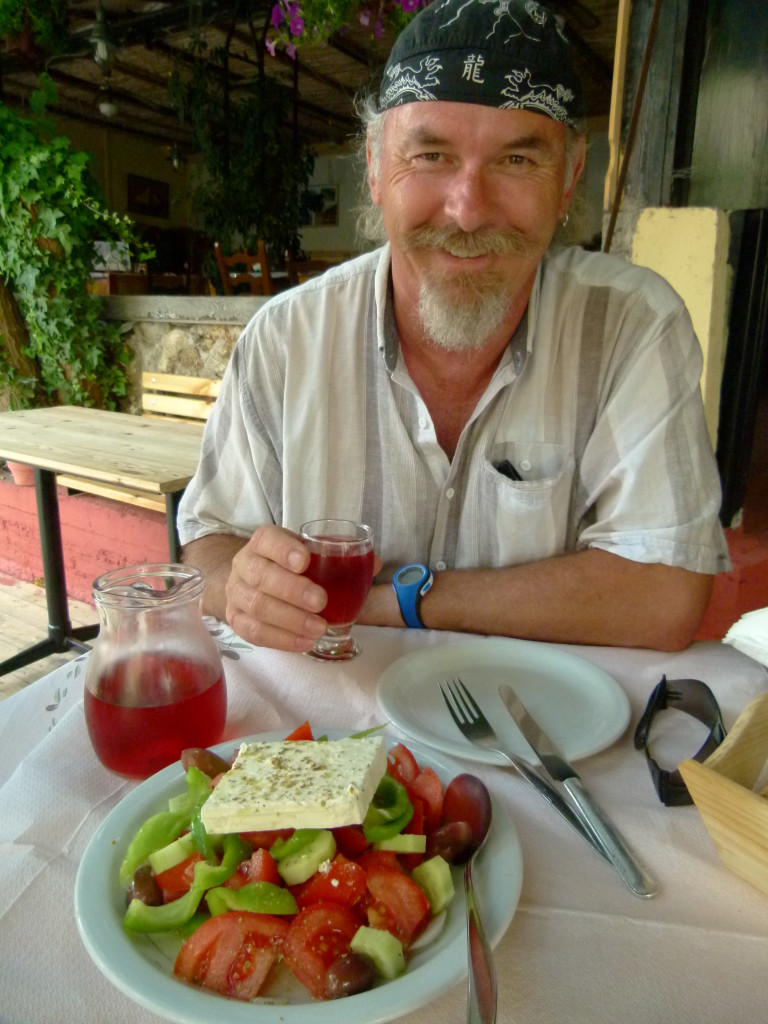 Greek salad in Greece.