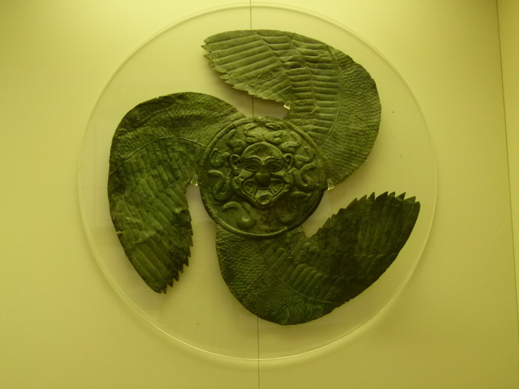 An interesting wall hanging. The museum contained the artifacts that were uncovered at the site.