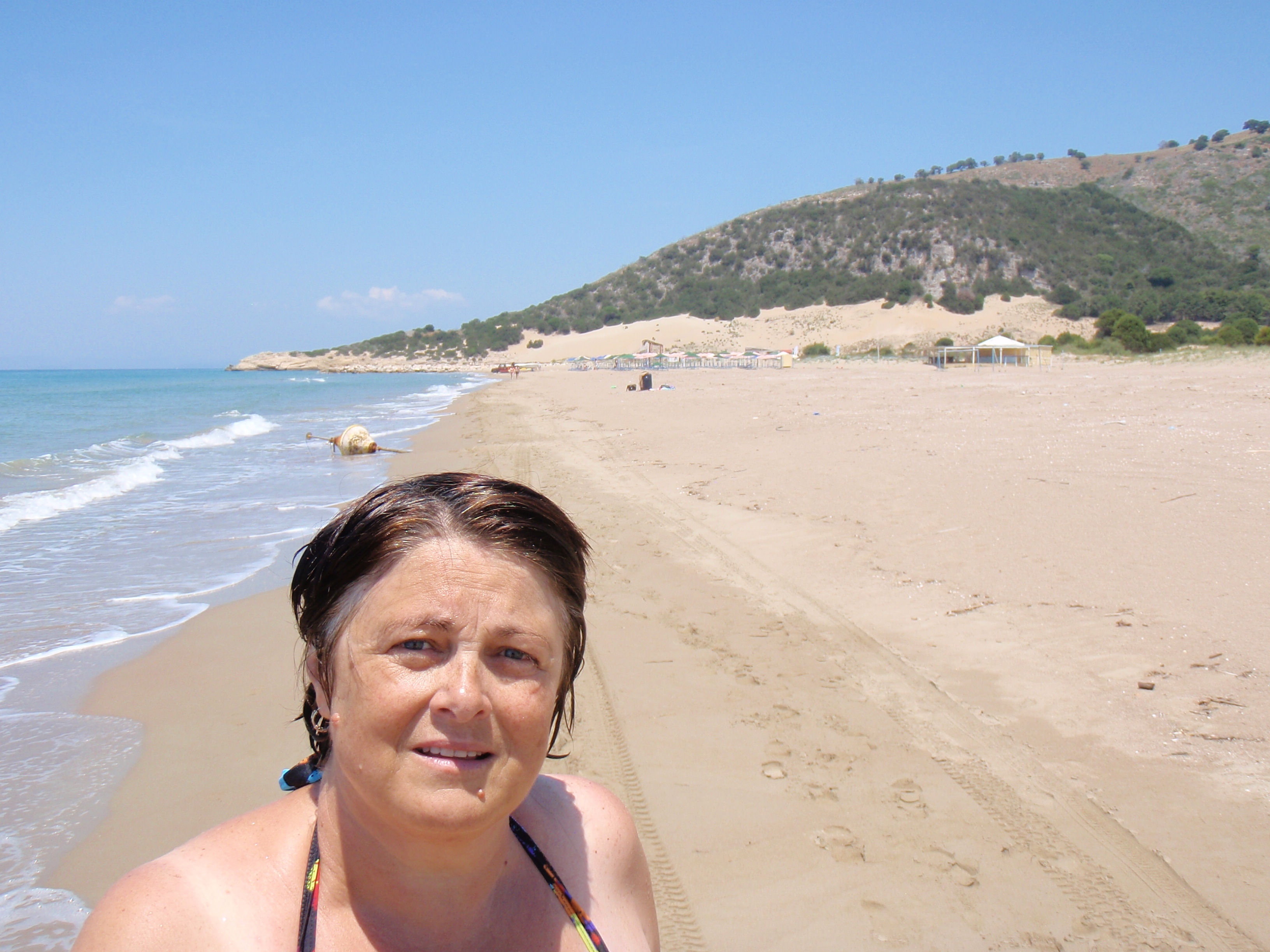the nice beach at Kalogria