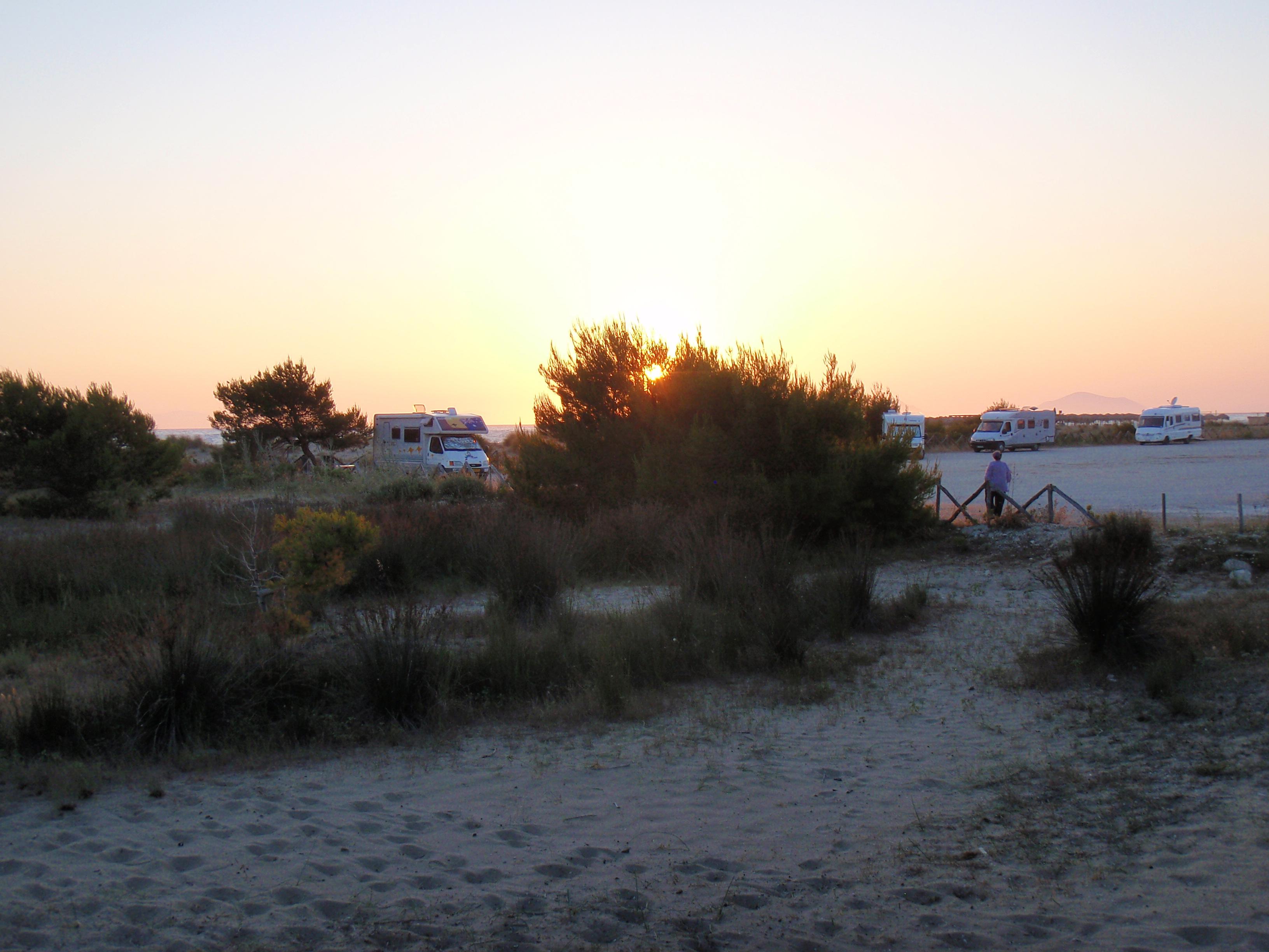Kalogria at sunset