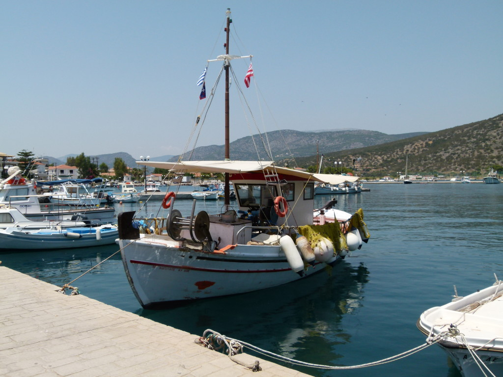 Typical Greek fishing boat.