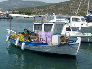 This boat had been pimped with a mural on the side.