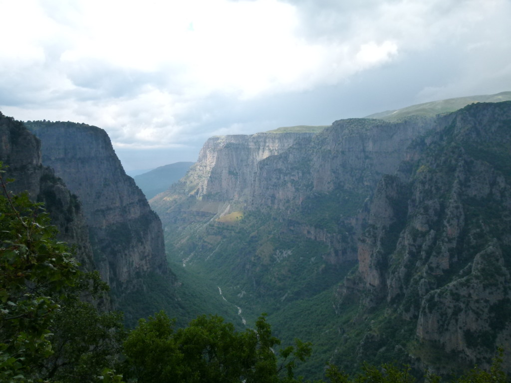Vikos Gorge the deepest gorge in the world.