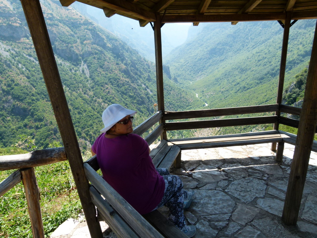 At the look out in the village of Vikos