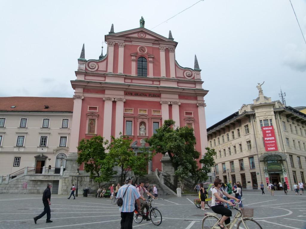 Ljubljana town centre.