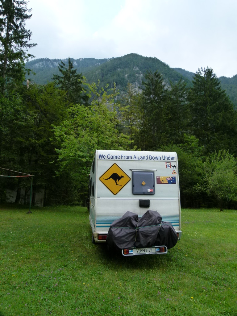 Our parking place for the night in the mountains.