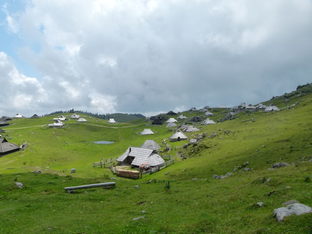 The mountain huts at Velika Planina.
