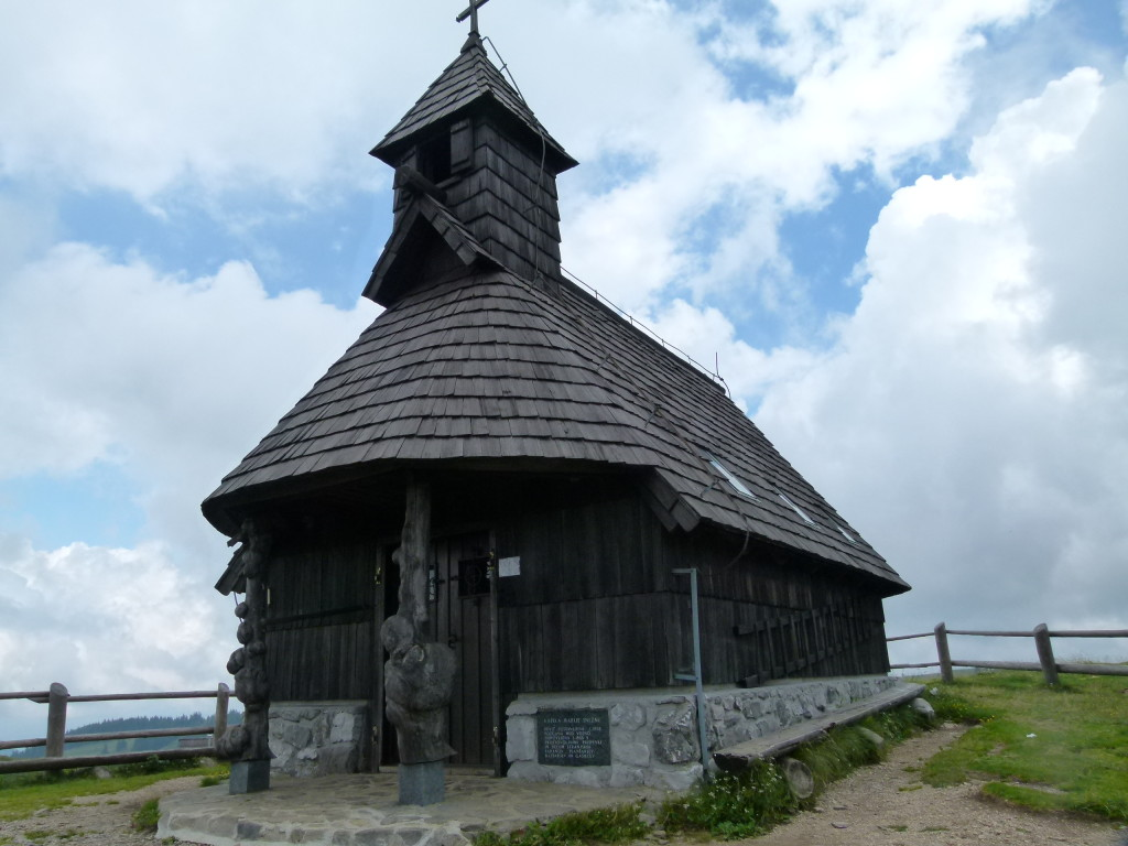 The wooden church at the village.