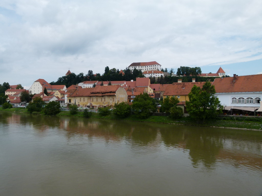 The town of Ptuj, picturesque.