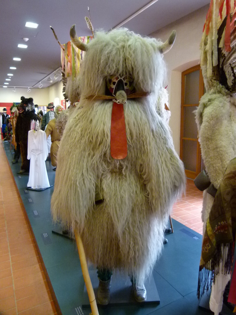 They had a great display of costumes that people wore for traditional festivals.