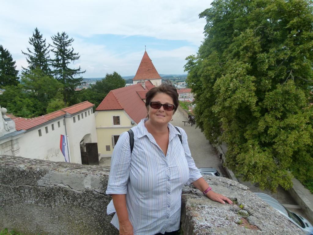 Jenny at the castle.