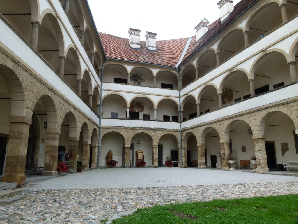 The courtyard of the castle.