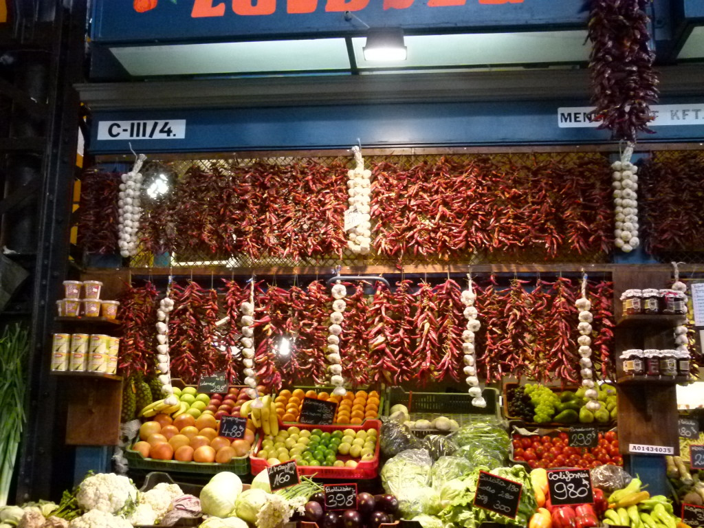 Budapest market, anyone for chilli