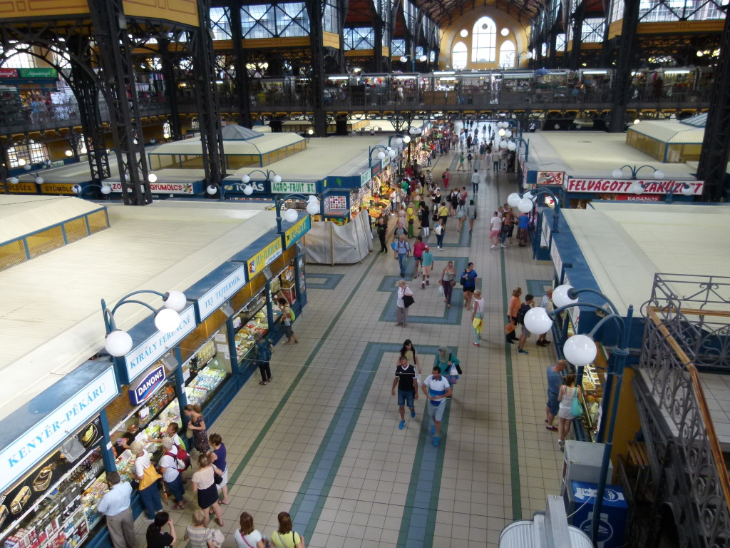 Budapest market, view from the 2nd floor