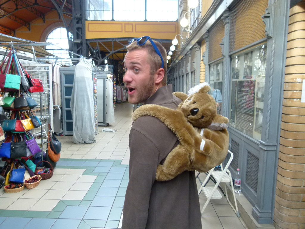 This guy caught our eye, Koala backpack. His is from France.