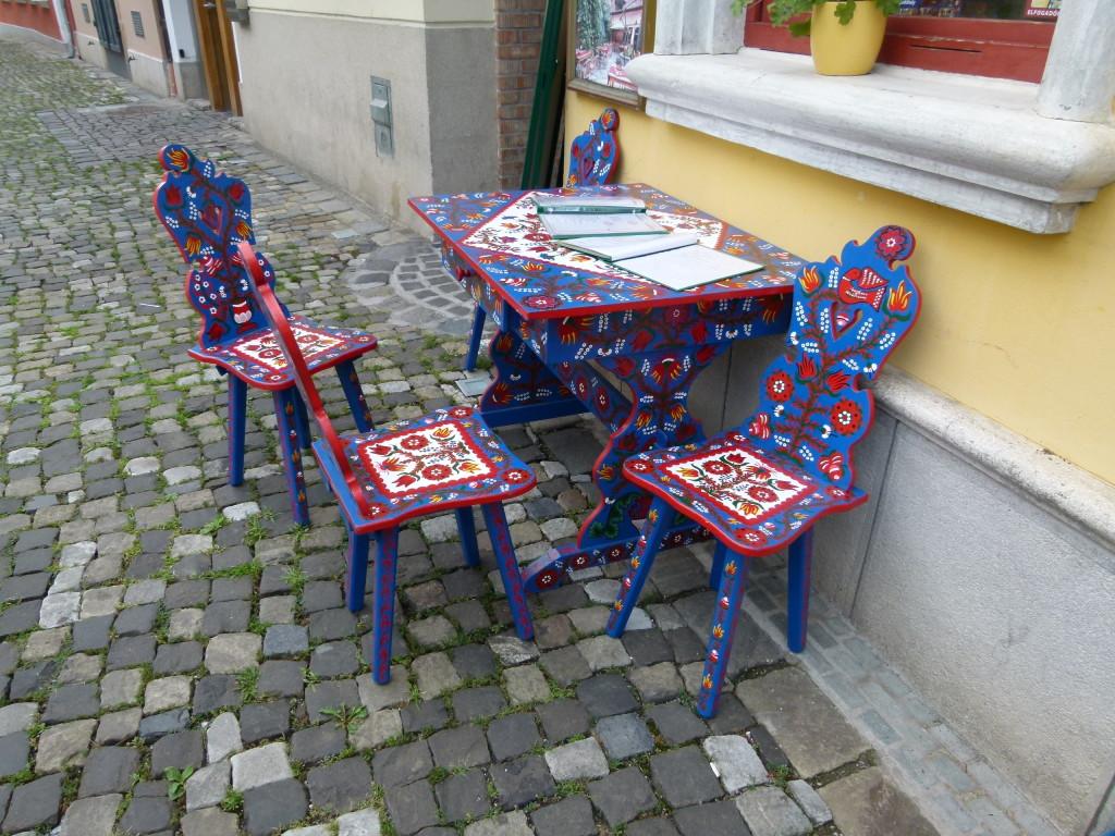 Colourful furniture,  Szentendre