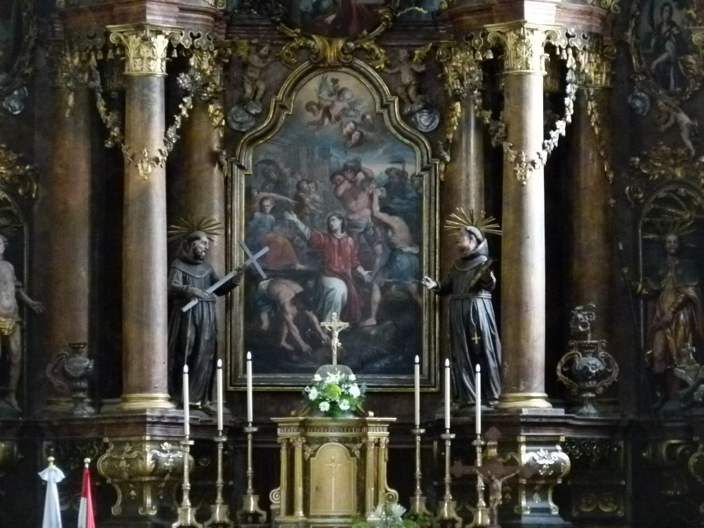 inside the chapel of the Monastery