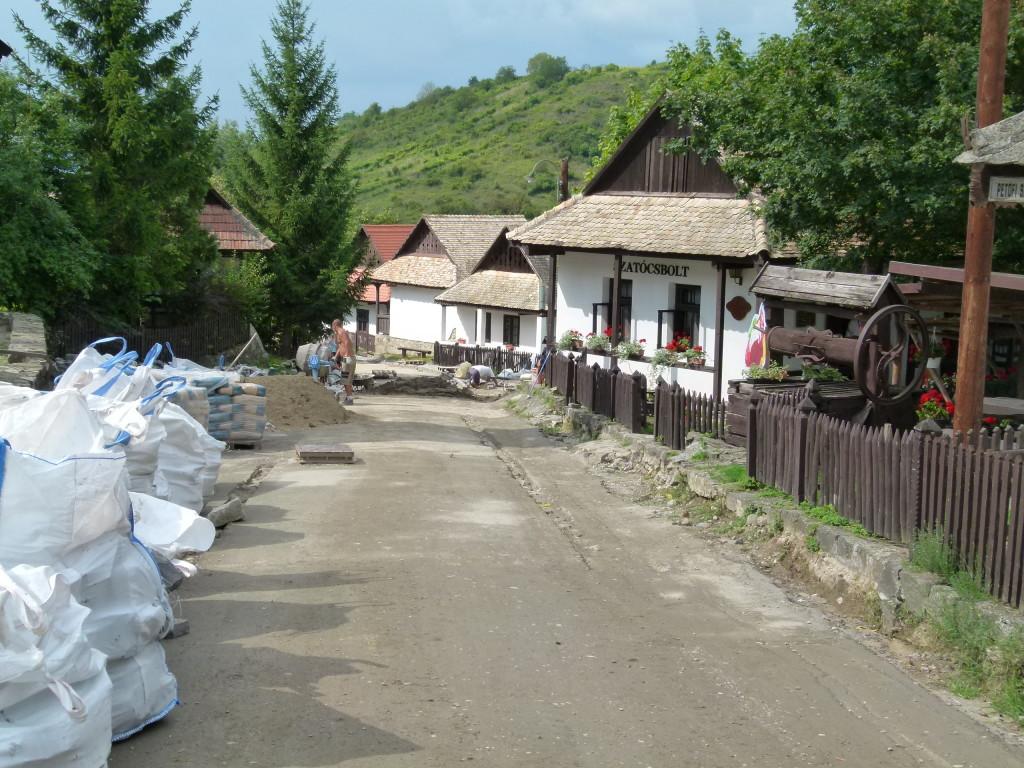 Holloko, streets dug up ready for repaving