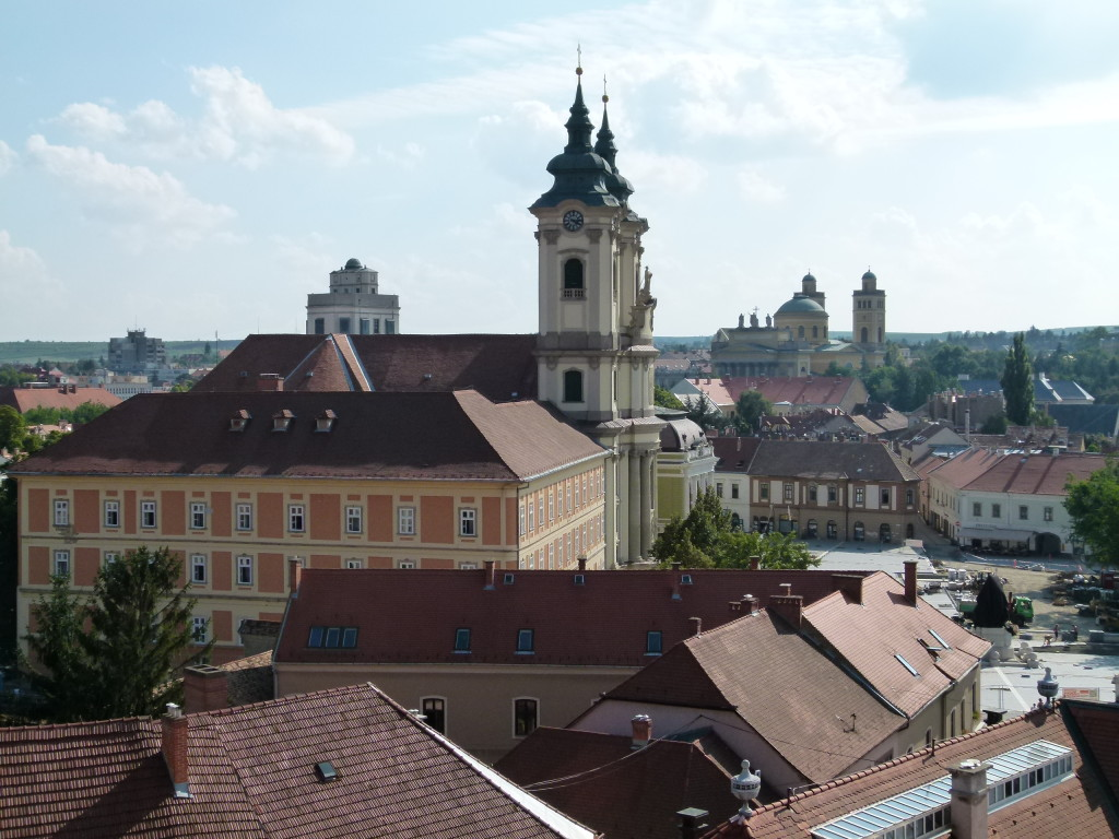 view of Eger from castle wall