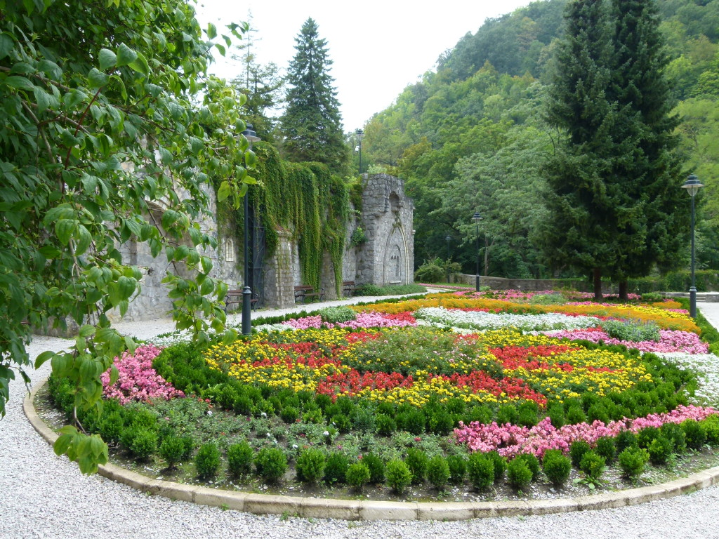 The gardens on the terraces, Lillafured.