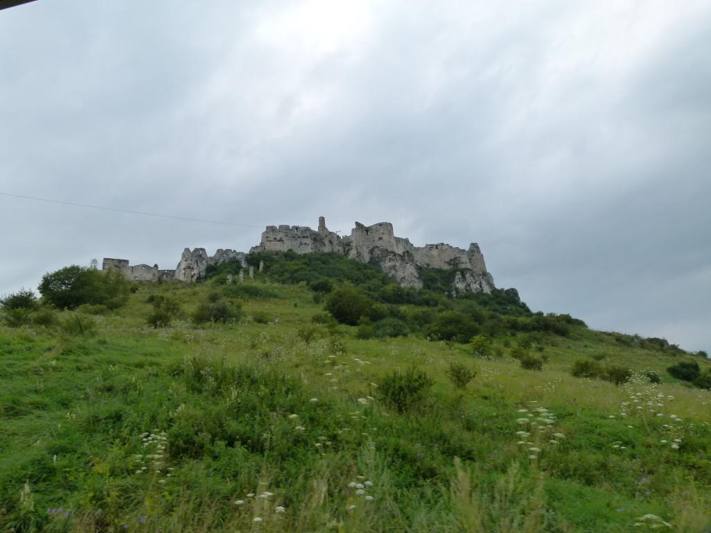 View of the castle as we drove to the carpark.