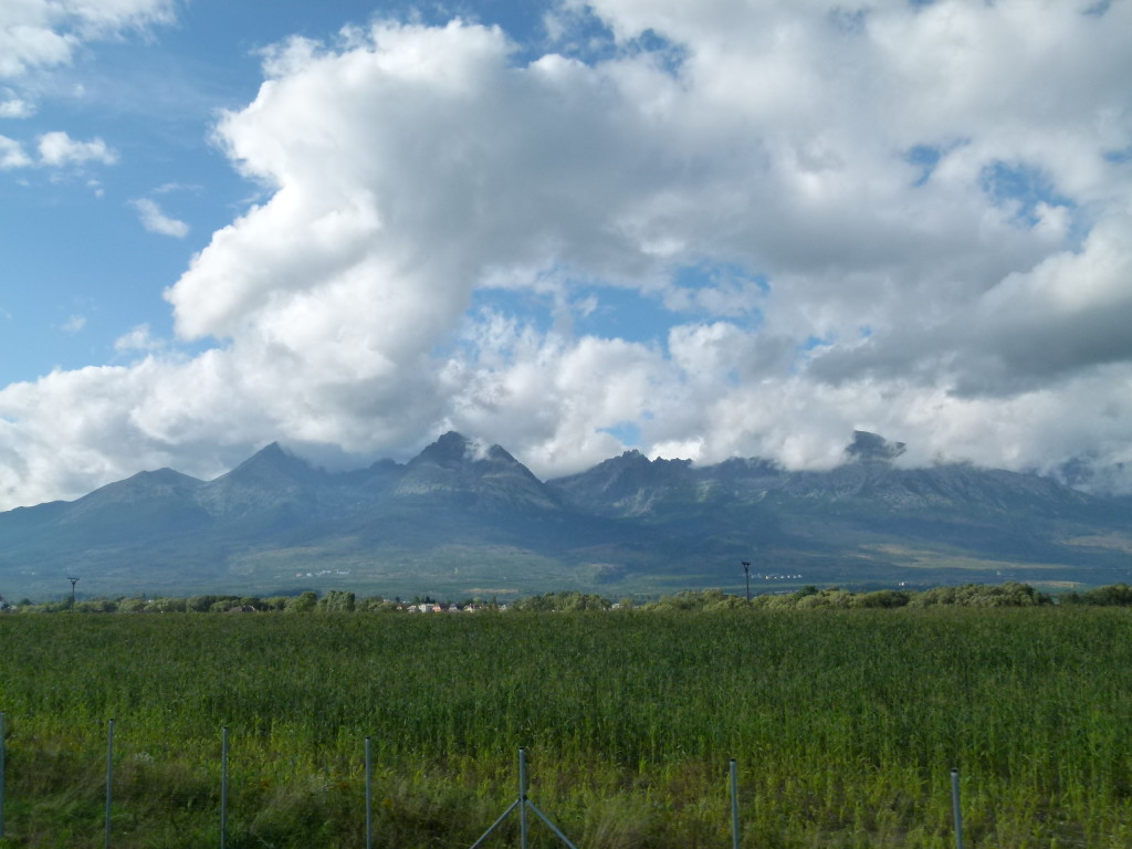 Veiw of the Tatras Mountains as we were driving West.