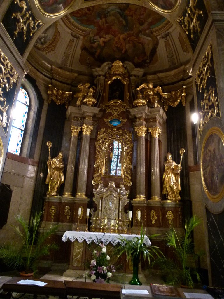 Inside the Wenceslas Cathedral