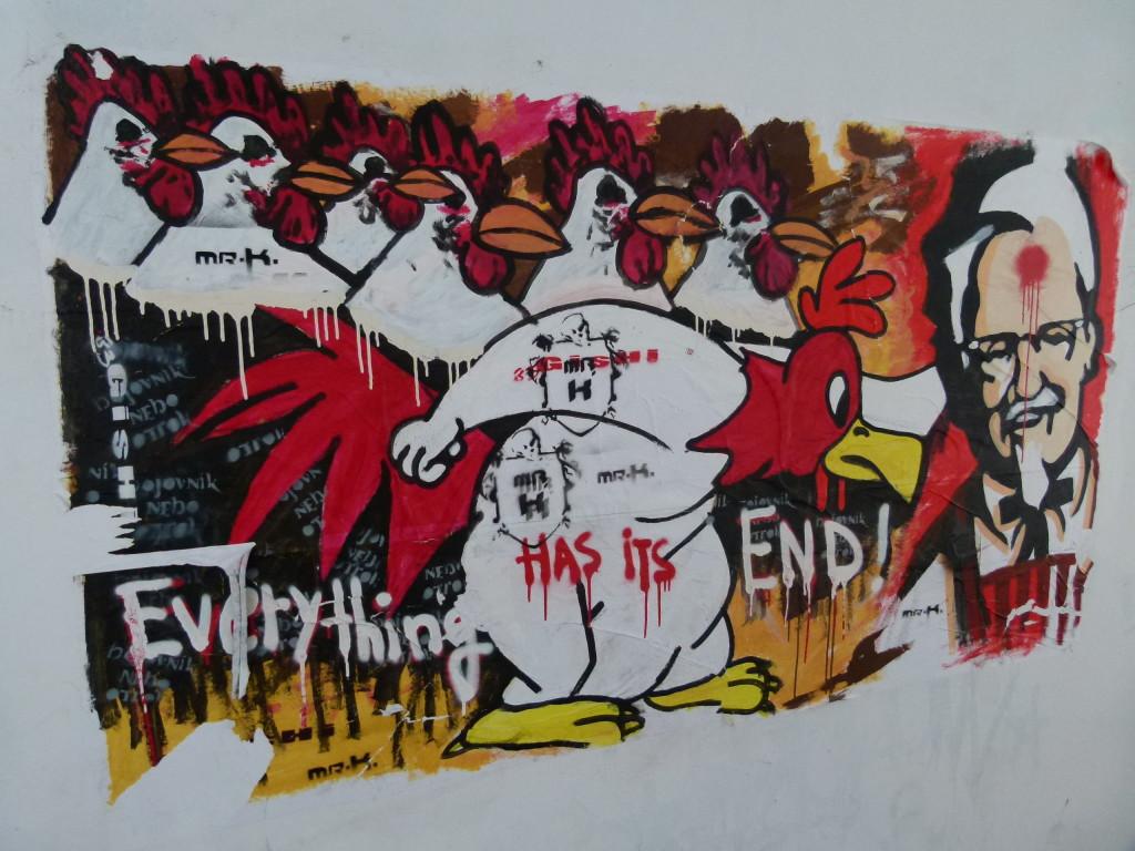interesting graffiti inside a walkway