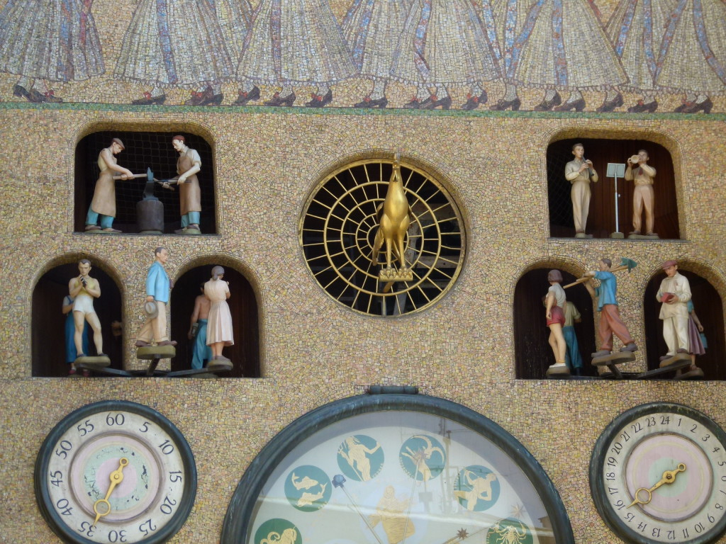 The mosaic decoration of the Clock is made of various portrayals on the lateral sides of the recess depicting characteristic work for each month of the year.
