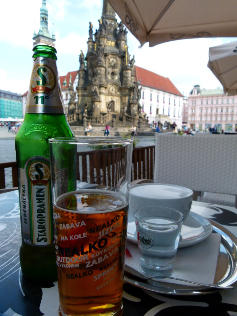 Refreshments while we plan our walk of Olomouc.