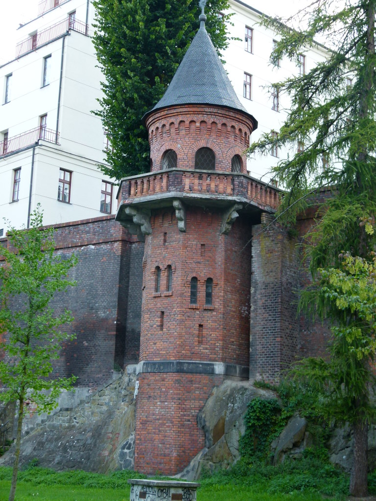 Part of the old wall fortifications of Olomouc