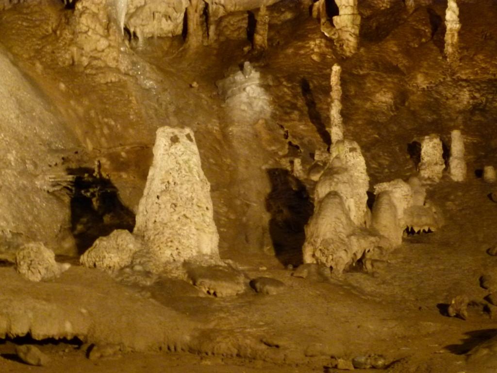 Punka Caves, two owl shaped stalagmites