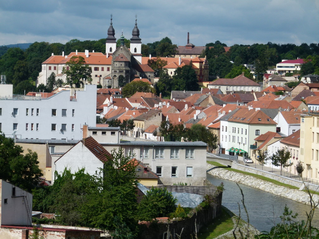 Trebic from a vantage point on the hill.