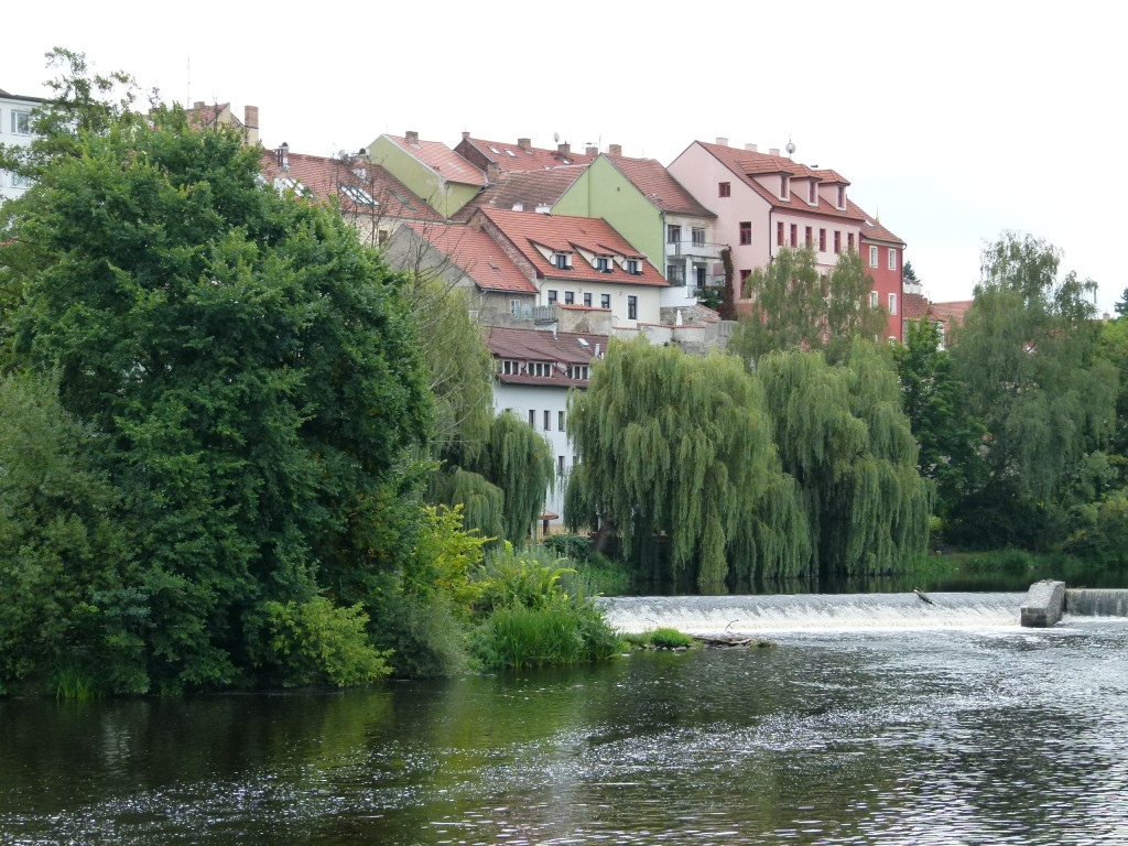 View of Pisek from the other side of the river.