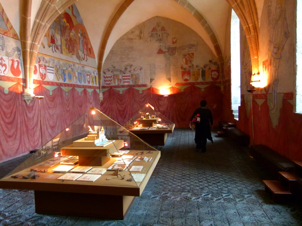 The Knight's Hall in the castle museum.