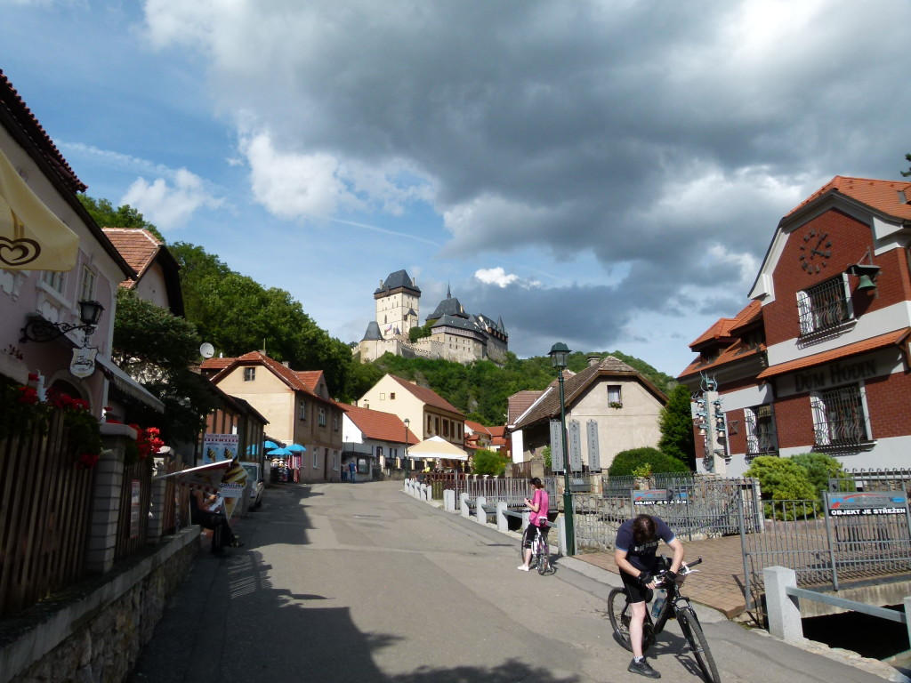 View of the town and the castle.