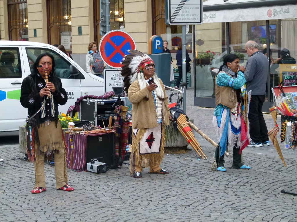 You don't expect to see Indians busking in Prague