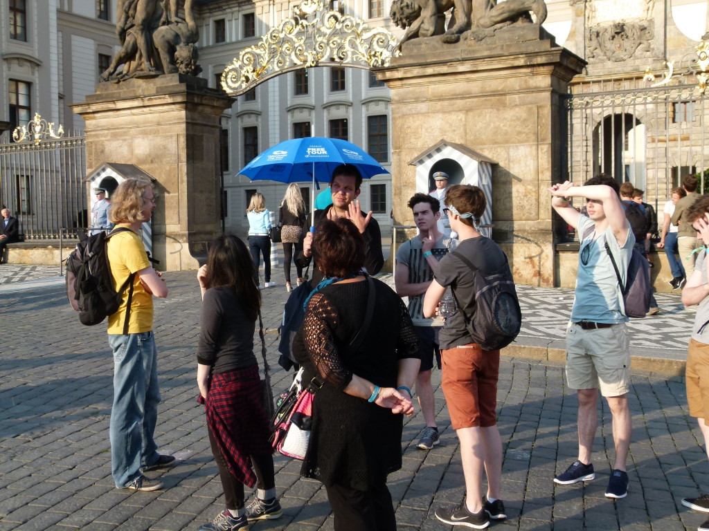 Our tour group with the guide giving detailed information about the area