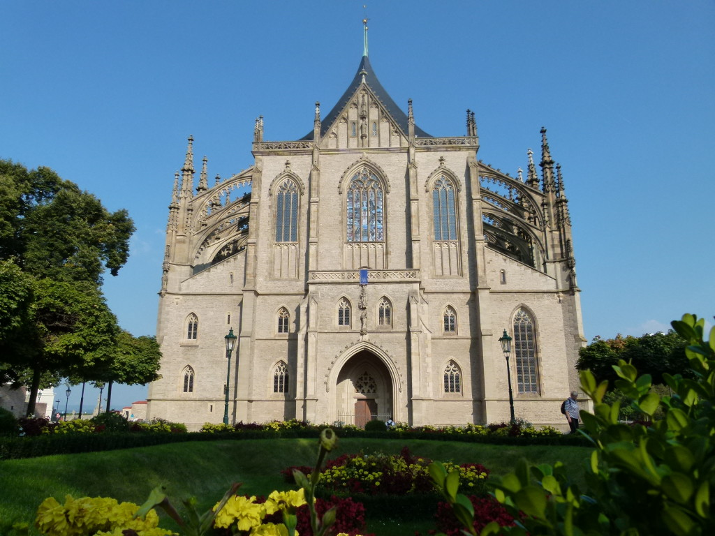 The Cathedral of St. Barbara, veiw from the front.