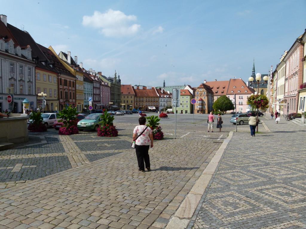 Cheb, town square
