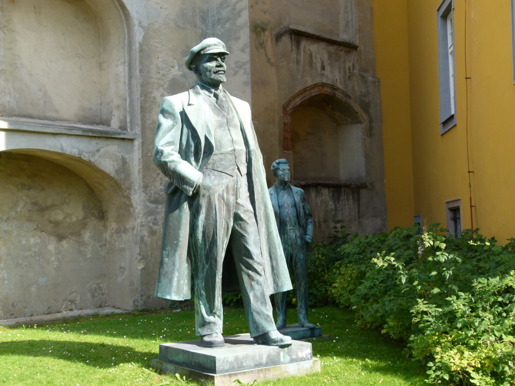 We discovered this statue of Lenin and other Communist statues behind the Franciscan Monastery