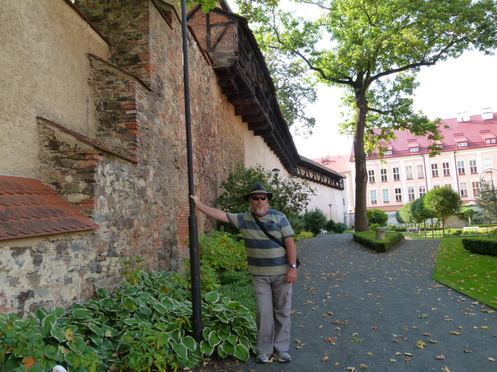 Ewout posing in the monastery gardens