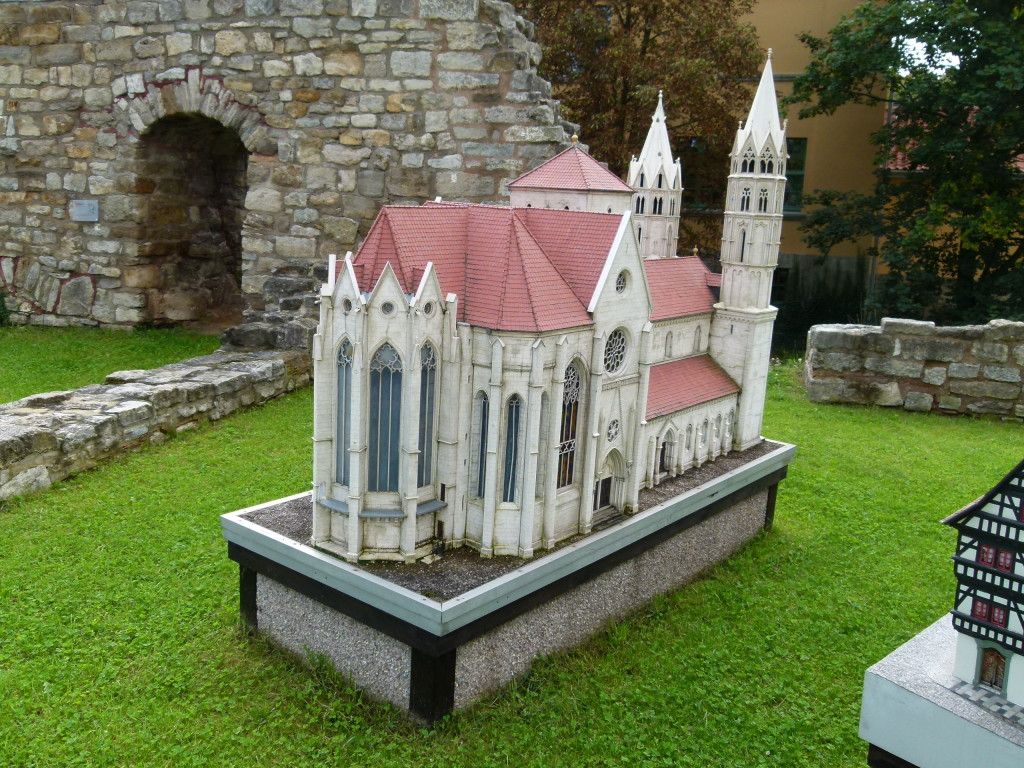 small models of Arnstadt's main monumental buildings