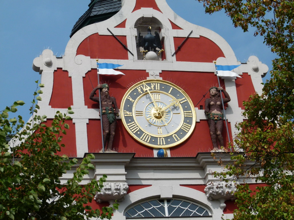 the clock on the Rathaus/ town hall of Arnstadt
