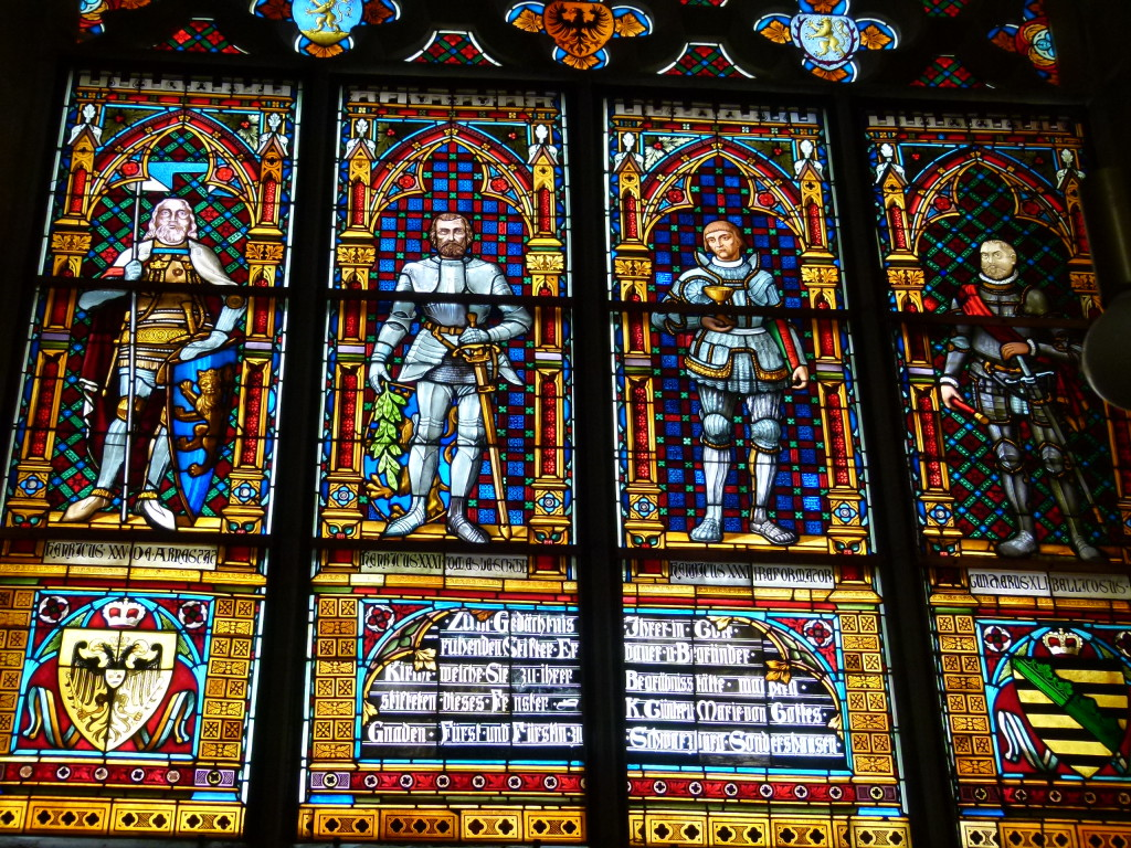 Stained glass in the Liebfrau Church, Arnstadt