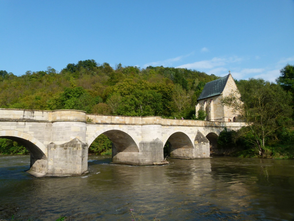 The Creuzburg bridge over the river Werra