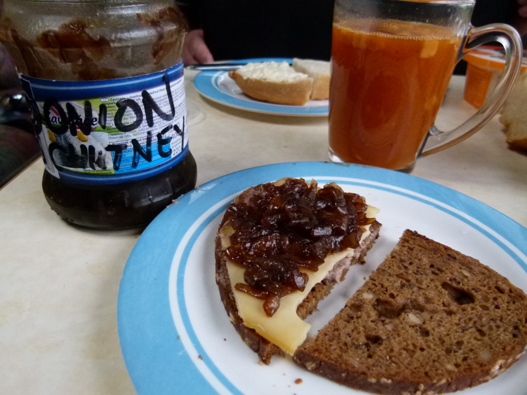Camper made onion chutney, yum