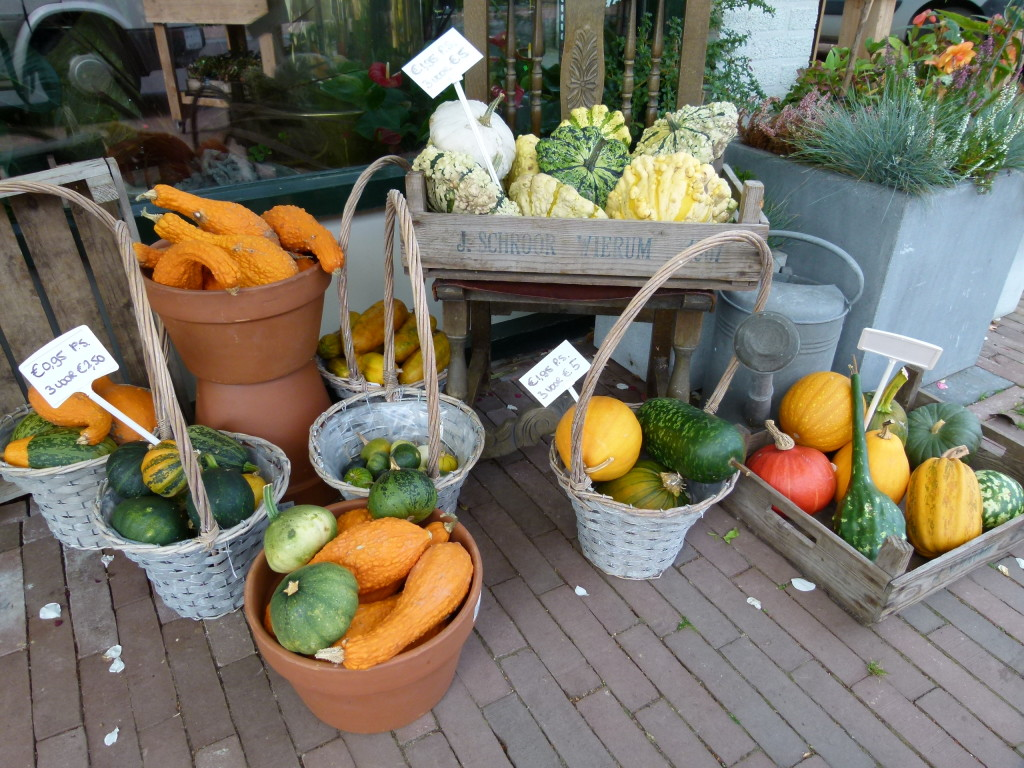 lovely display for Autumn outside a garden shop