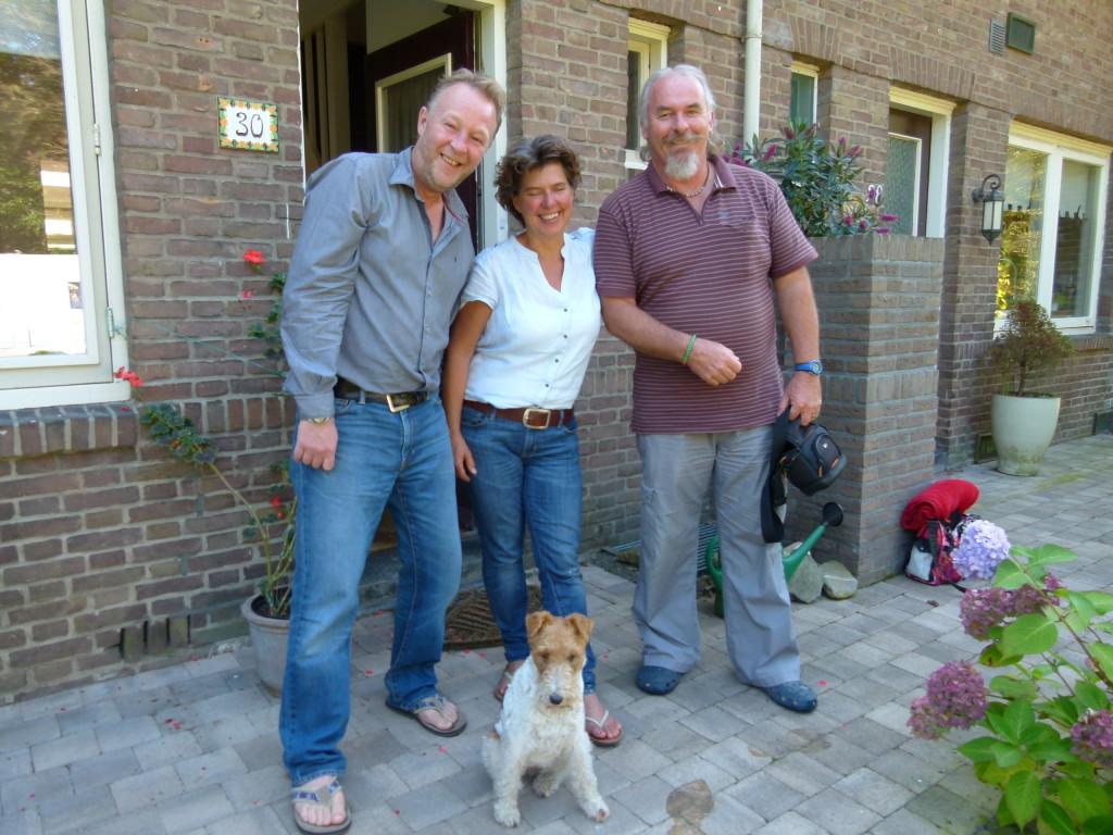 Tonnie, Remko and Ewout at Radio Kootwijk.