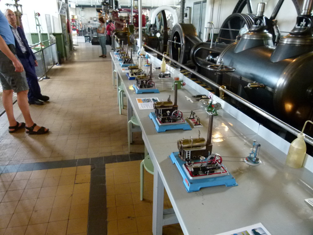 Inside the steam museum they had small models for the children to fire up and play with.